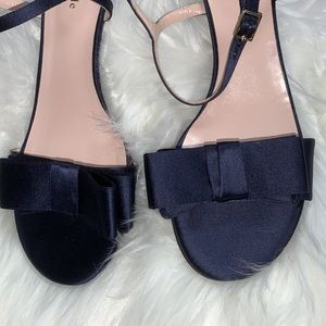 Kate Spade New York Monna Too Navy bow sandals